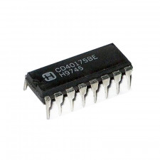 Circuito integrado CD40175 - CMOS Flip-Flop D