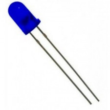 LED Difuso 5mm Azul