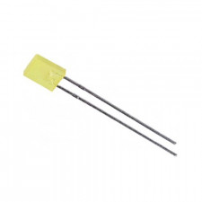 LED Retangular Amarelo 5mm