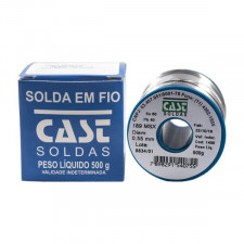 Rolo de Solda Estanho 500g 0,5mm - Cast
